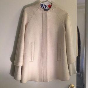 Zara Trafaluc Cream Outerwear Bomber / Pea Coat